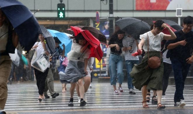 Typhoon Jongdari: Powerful storm hits weather-ravaged Japan