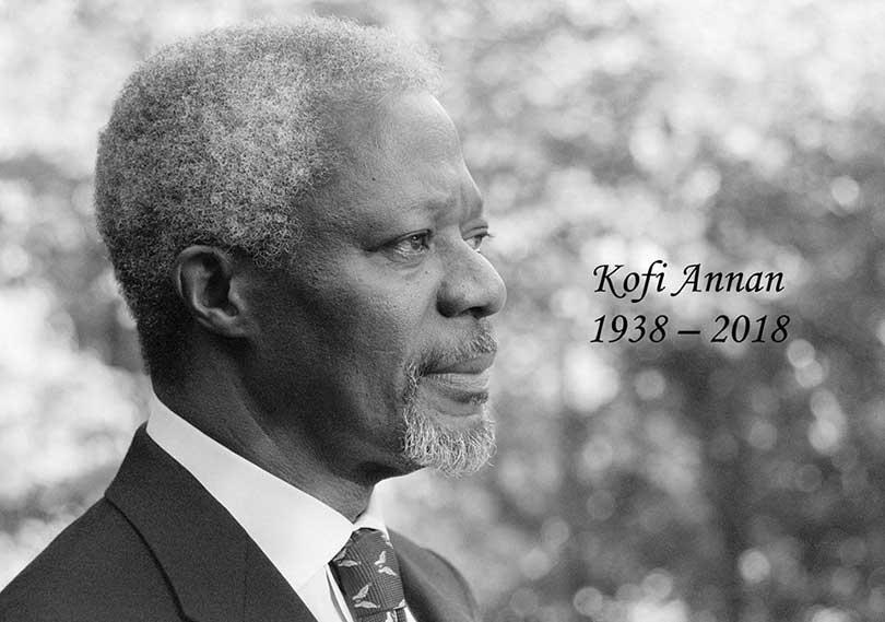 संयुक्त राष्ट्रसंघका पूर्वमहासचिव कोफी अन्नानको निधन