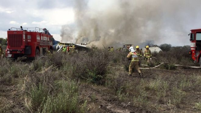 मेक्सिकोमा ९७ यात्रु सवार विमान दुर्घटना, सबै यात्रु सुरक्षित
