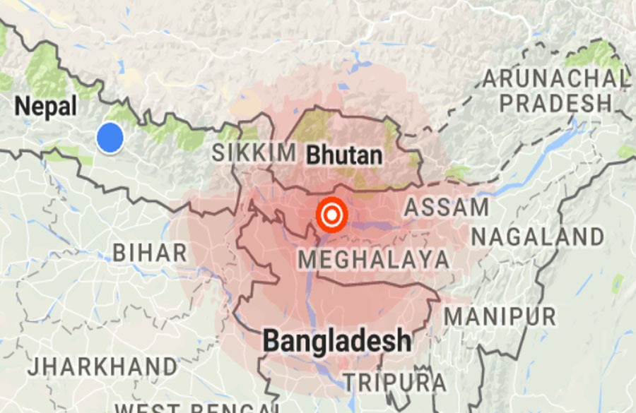 पूर्वी नेपालमा भूकम्पको धक्का, ५ दशमलव ५ म्याग्निच्युड मापन