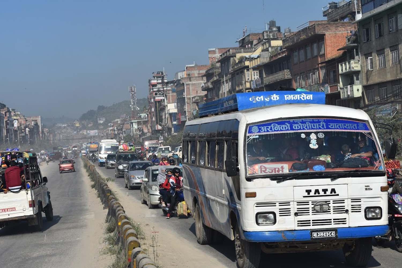 यात्रुलाई सहज बनाउन आजदेखि रुट परमिट खुला, मालबाहक सवारी काठमाडौं छिर्न नपाउने