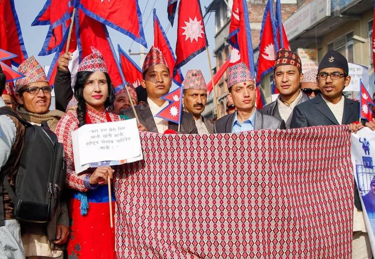 धुमधामसँग मनाइयो नेपाली 'टोपी दिवस'