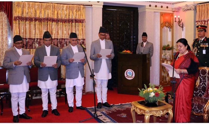 चार राजदूतहरुले लिए राष्ट्रपति समक्ष शपथ