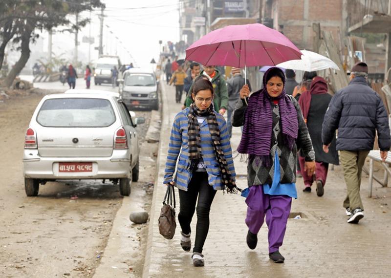 काठमाडौँ उपत्यकासहित देशका पहाडी भेगमा मंगलबार पनि वर्षा हुने