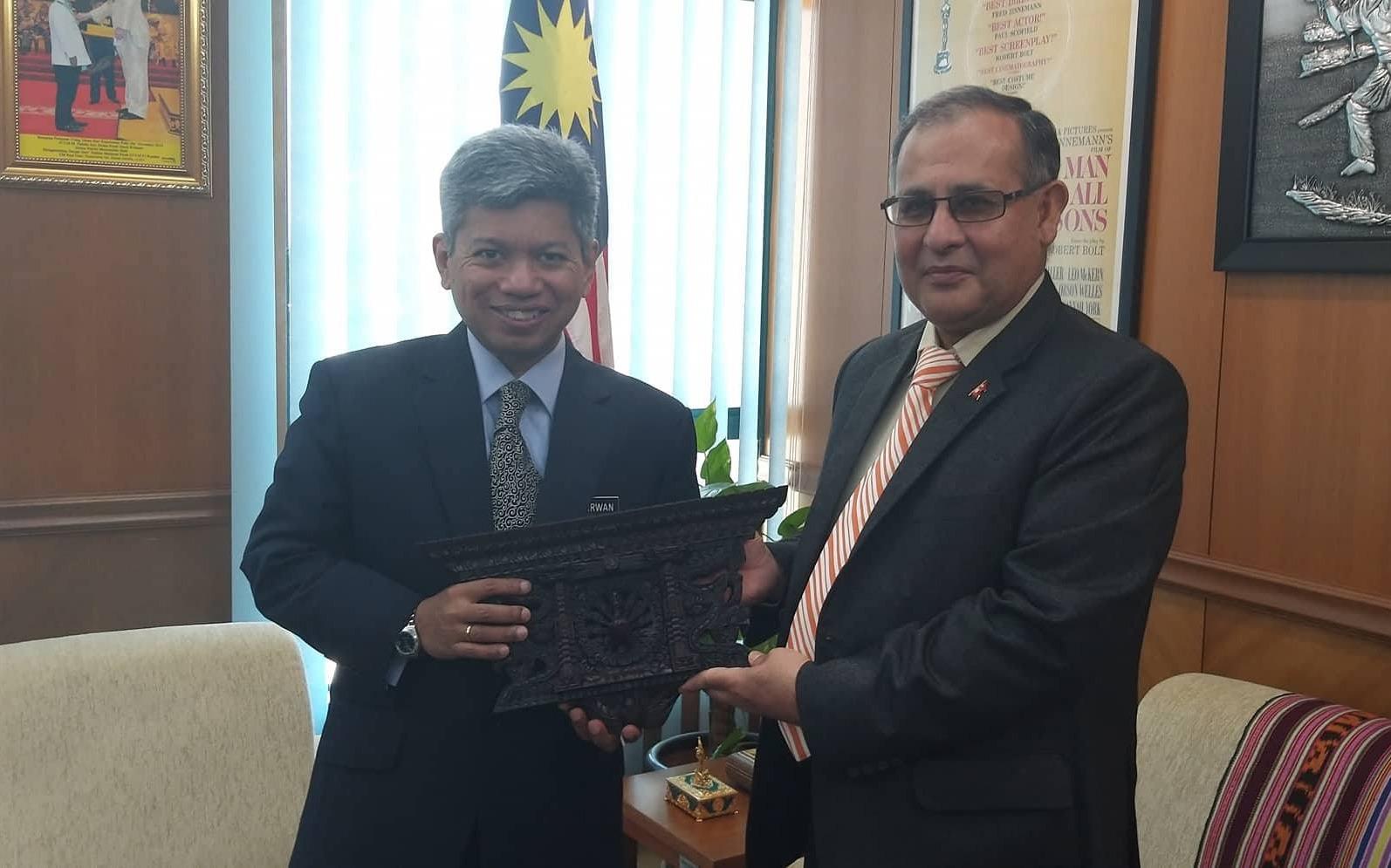 मलेसिया रोजगारी खुलाउन राजदूत पाण्डे र मलेसियाली परराष्ट्र मन्त्रालयका उच्च अधिकारीबीच भेटवार्ता