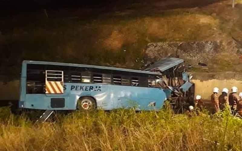 मलेसियामा बस दुर्घटनामा परी  २ नेपालीको मृत्यु, ३ जना गम्भीर घाइते