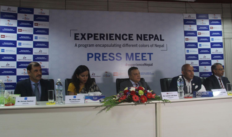 पर्यटन बोर्ड र अमेरिकन एक्सप्रेससँगको सहकार्यमा हिमालयन बैंकले सुरु ग¥यो 'एक्सपेरियन्स नेपाल' अभियान