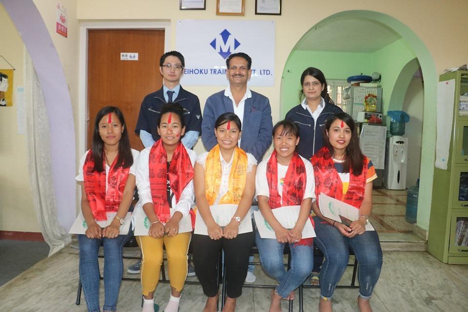 काठमाडौं ओभरसिजले ५ जनालाई केयरगिभरमा जापान पठायो