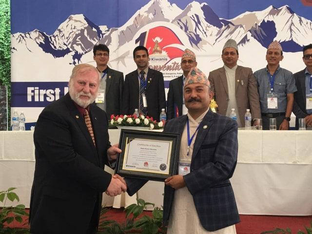 किवानिज इन्टरनेशनल क्लवको पहिलो नेपाल डिष्ट्रिक गभर्नरमा श्रेष्ठ निर्वाचित