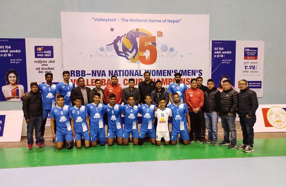 'हेल्प नेपाल क्लब' राष्ट्रिय भलिबल प्रतियोगिताको क्वाटरफाइनलमा