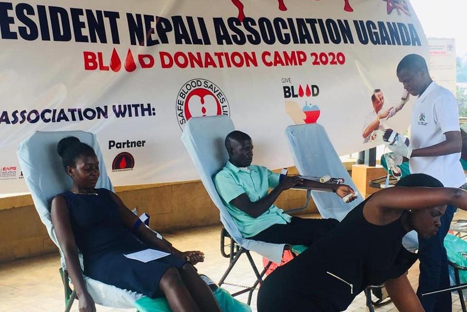 एनआरएनए युगान्डाद्धारा रक्तदान कार्यक्रम सम्पन्न