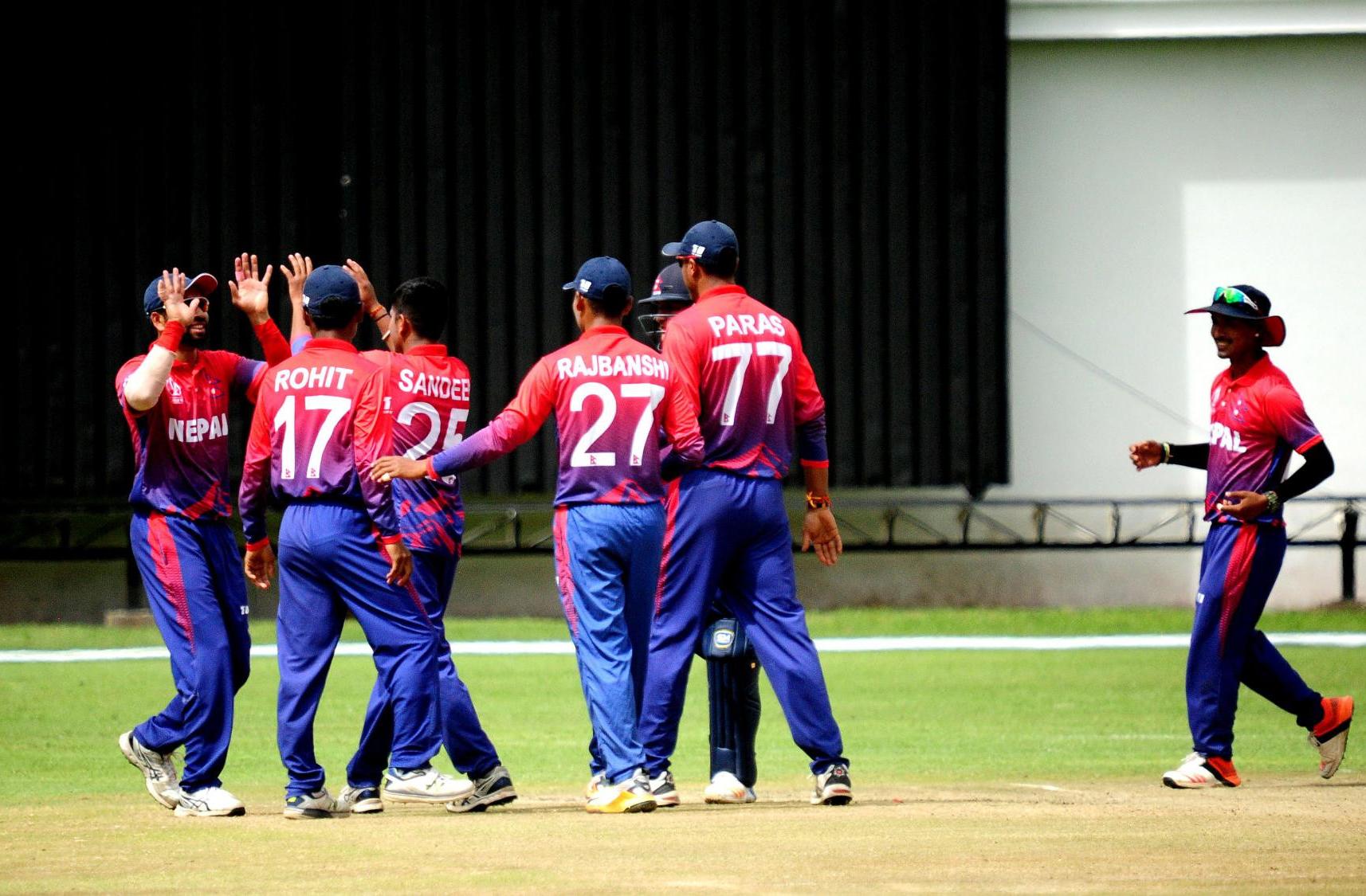 एसीसी इस्टर्न रिजन टी–२० क्रिकेटमा नेपालको लगातार दोस्रो हार, अघिल्लो चरण प्रवेशको संभावना बन्यो कम्जोर