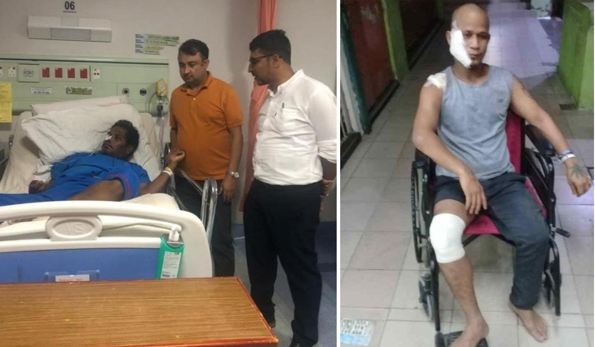 अस्पतालमा उपचार गराइरहेका दुई नेपाली युवालाई एनआरएनए मलेसियाको आर्थिक सहायता