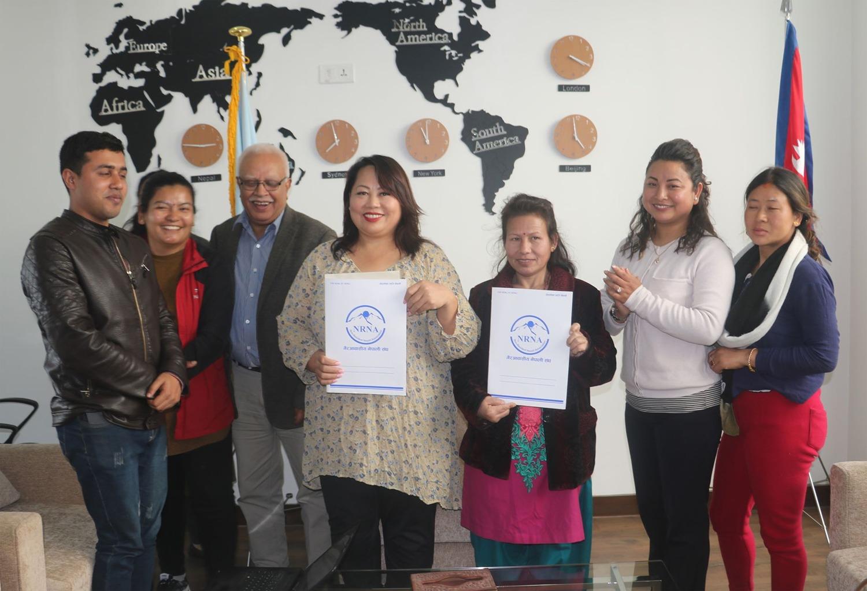 वैदेशिक रोजगारीमा पीडित भई फर्केका महिलाको सहजिकरणका लागि एनआरएन महिला फोरम र शक्ति समूहबीच सम्झौता