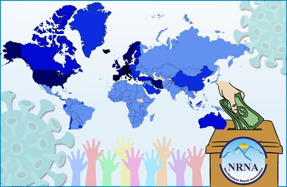 एनआरएनएले कोरोना पीडितको सहयोगार्थ आर्थिक संकलनलाई दियो तिब्रता