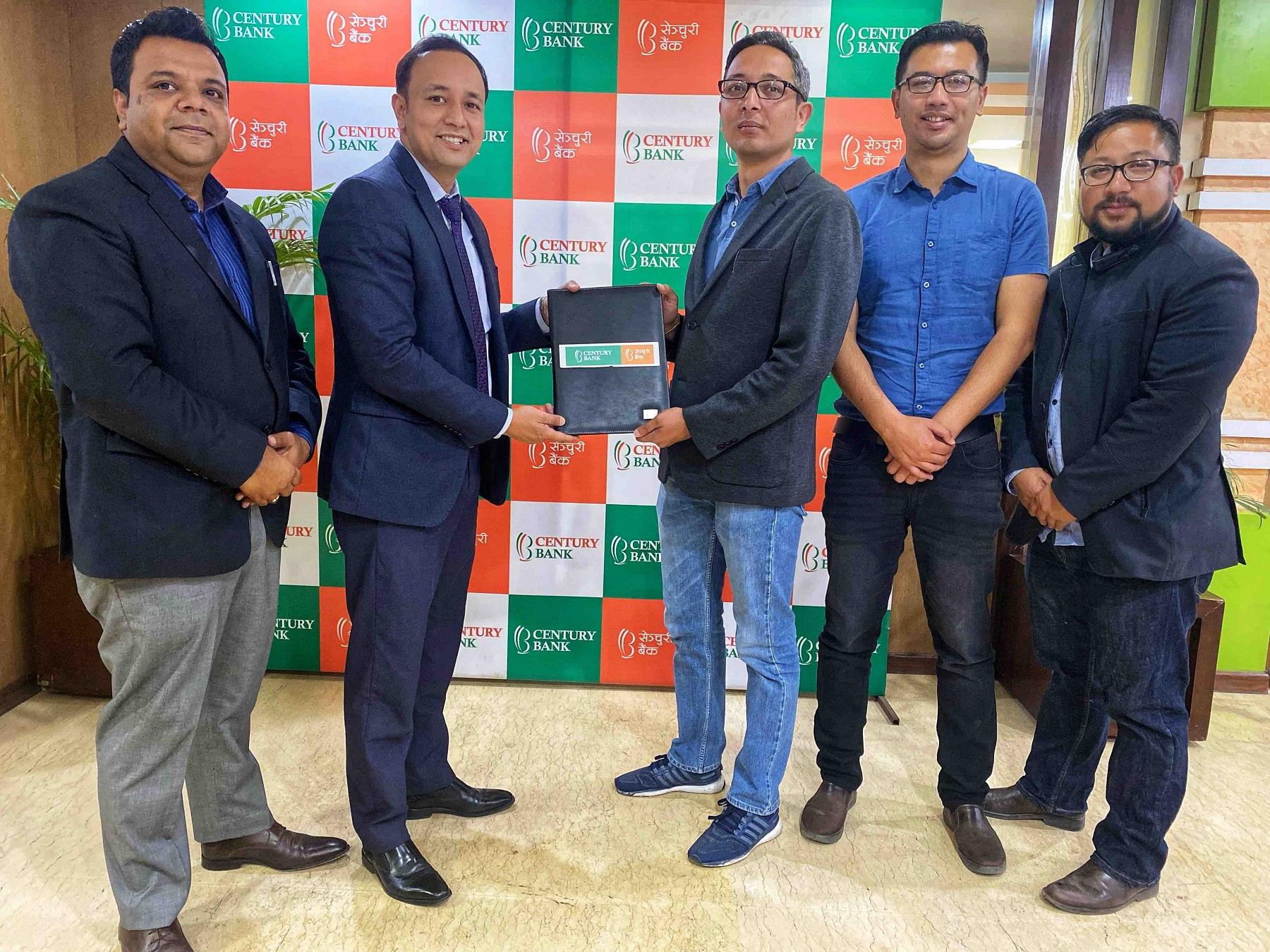 सेञ्चुरी बैंक र एफवान सफ्टबीच मोबाईल बैंकिङ सेवाका लागि सम्झौता
