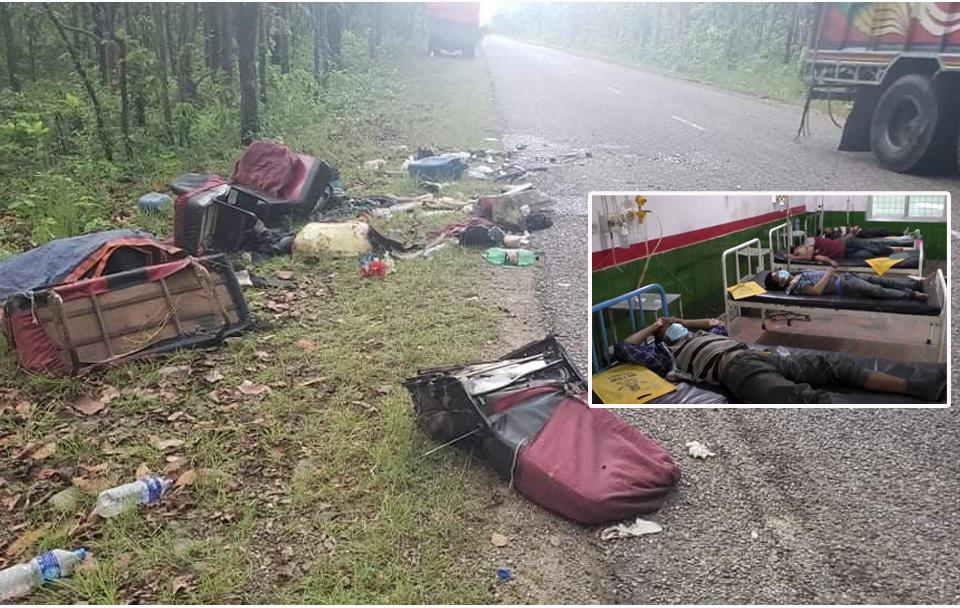 बाँके दुर्घटनामा मृत्यु हुनेको संख्या १२ पुग्यो, सबैको कोरोना परीक्षण गरिने