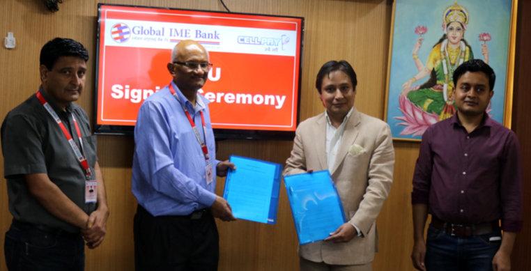 ग्लोबल आइएमई बैंक र सेलपेबीच सहकार्य