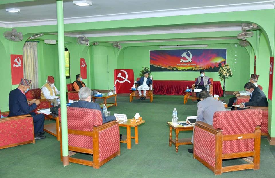 नेकपा सचिवालय बैठक आज बस्दै, मन्त्रिपरिषद् पुनर्गठनको विषय टुंगो लाग्न सक्ने