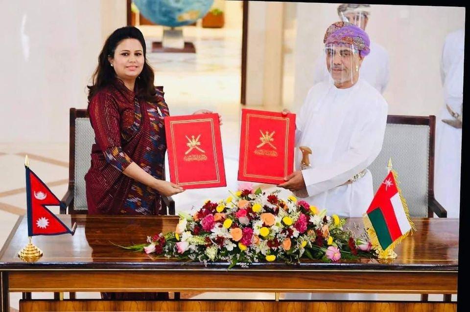 नेपाल र ओमानका कूटनीतिक राहदानी बाहकलाई ९० दिनसम्म भिसा नचाहिने
