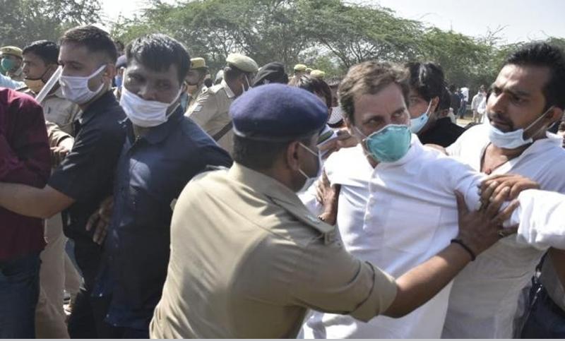 भारतीय काँग्रेसका नेता राहुल र प्रियंका गान्धी गिरफ्तार