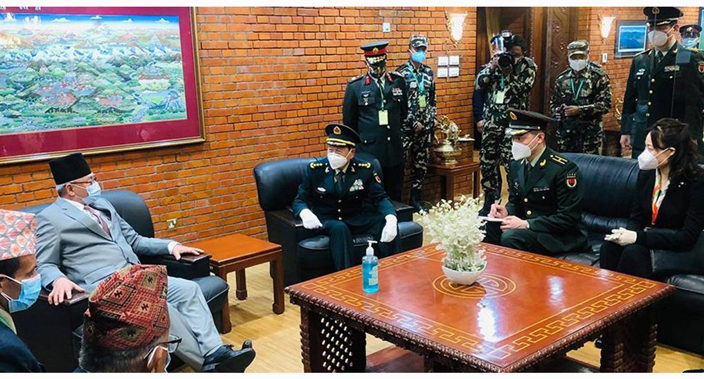 चीनका रक्षामन्त्री वेई फेङ्ही काठमाडौमा