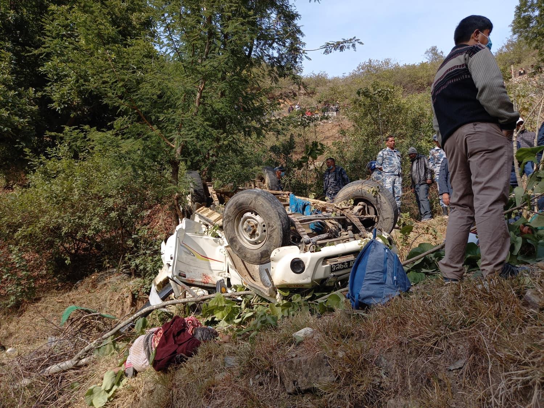 बैतडीमा जिप दुर्घटना हुदा ५ जनाको मृत्यु, ४ जना घाइते