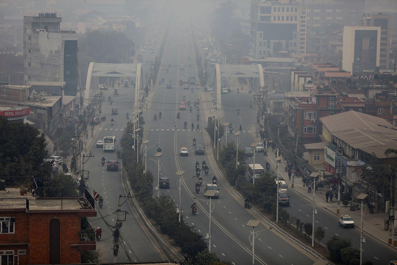 अझै घटेन वायु प्रदूषण, काठमाडौं विश्वको प्रदूषित शहरको नम्बर एकमै कायम