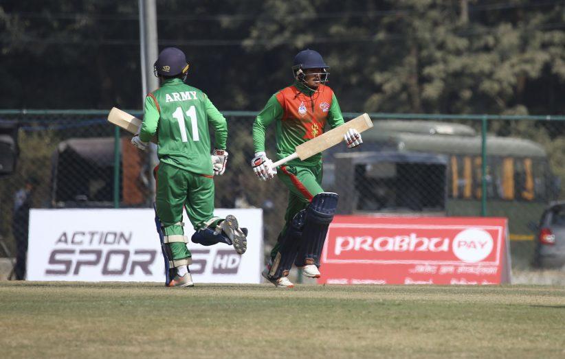 प्रधानमन्त्री कप क्रिकेट : एपीएफलाई हराउँदै आर्मी च्याम्पियन