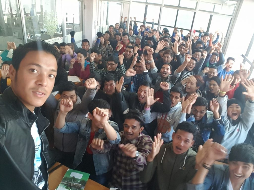 कोरियामा अध्ययनरत नेपाली विद्यार्थीले पनि इ–९ भिसा पाउने