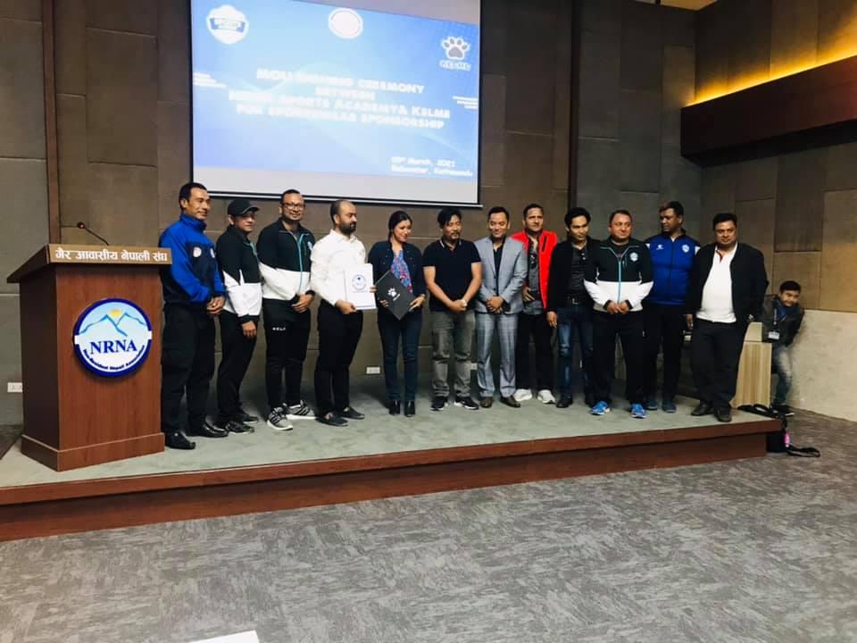 गैरआवासीय नेपाली संघ खेलकुद प्रतिष्ठान र केल्मीविच सहमतीपत्रमा हस्ताक्षर