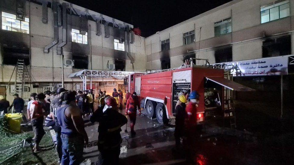इराकको कोरोना अस्पतालमा आगलागी, २३ जनाको मृत्यु