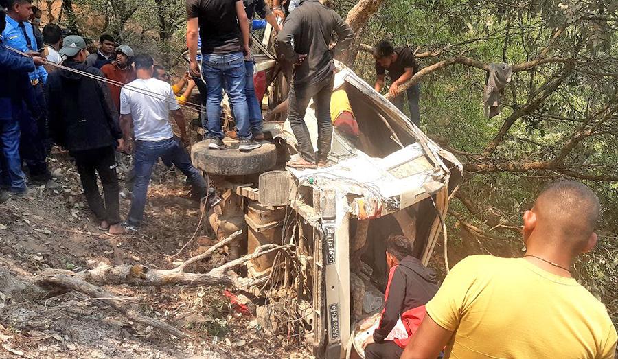 प्यूठानको जिप दुर्घटनामा मृत्यु हुनेको संख्या पाँच पुग्यो, ११ जना घाइते